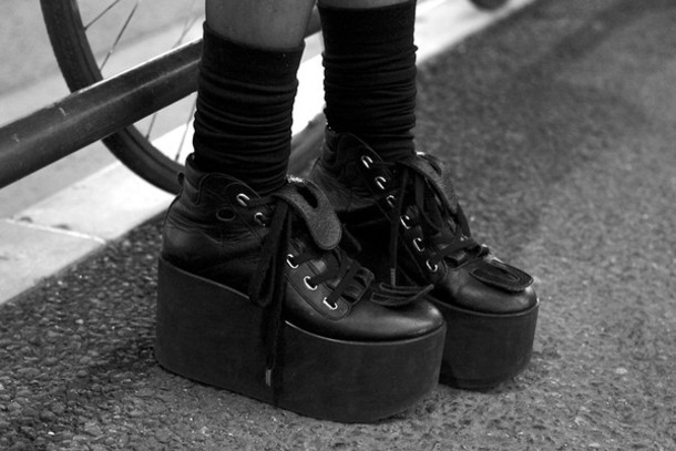 shoes lace up goth grunge sneakers