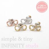 jewels,jewelry,earrings,stud earrings,eternity earrings,infinity,infinite,infinity earrings,lovely,forever,anniversary