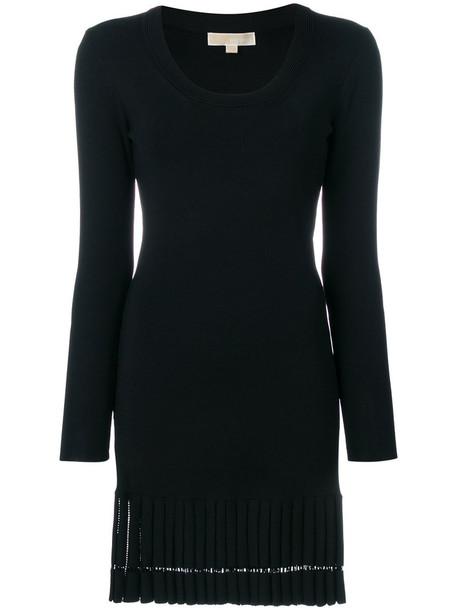Michael Kors dress pleated women spandex black