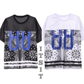 t-shirt,black,black and white,quote on it,tshit,white,top,jersey,jersey tee shirt,jersey tee,jerseys,number tee,88,88 shirt,bandana print,paisley,paisley top,cute,sexy,style,fashion,fall outfits,boutique,itsit clothing,instagram,new york city,new yorker,fall 2014,fall style,tomboy,comfy,all black everything