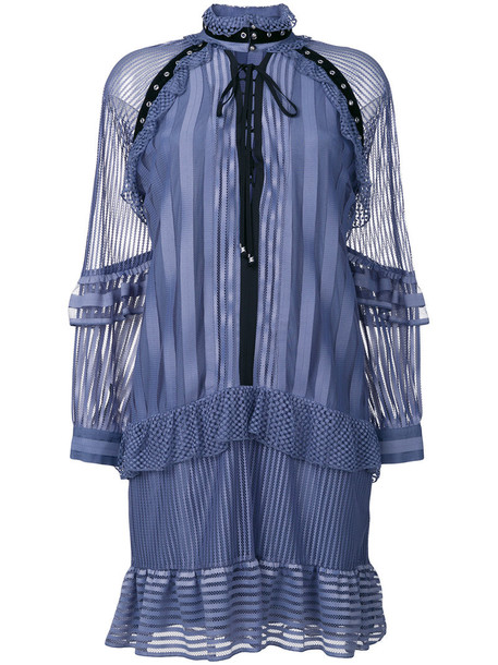 just cavalli dress shirt dress women blue