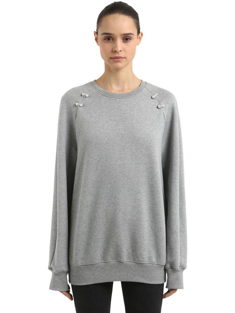 COLIAC Deneb Oversized Sweatshirt W/ Piercings in grey