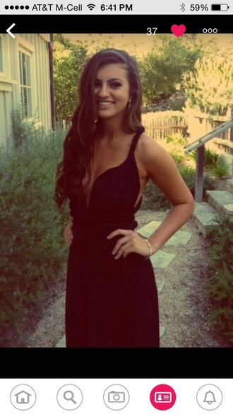 dress black dress prom dress formal homecoming prom formal party dresses formal black dress evening gown floor length vneck dress