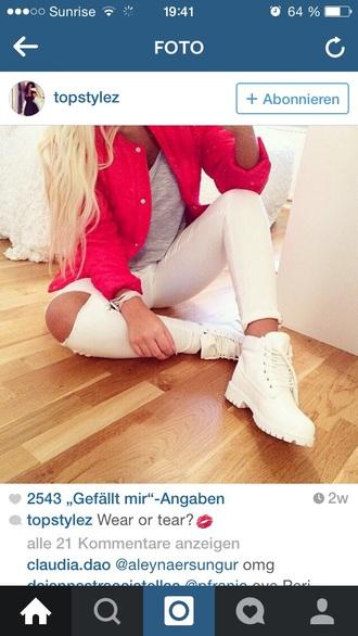 shoes jacket jeans
