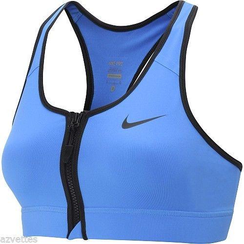 31befe4165 NEW! Blue  402  XS  NIKE PRO Women s Zip Front DRI-FIT Sports ...