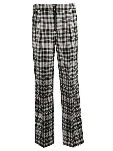 Alexander Wang Checked Trousers in black / white
