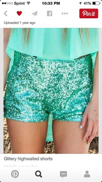 shorts coral sparkley shorts silver sparkley shorts