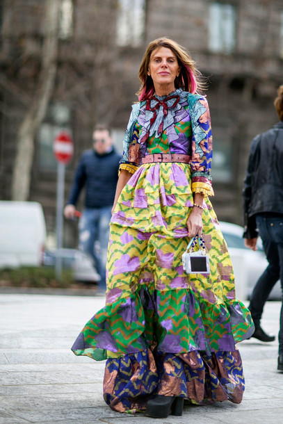 Dress Maxi Dress Streetstyle Fashion Week 2016 Milan Fashion Week 2016 Colorful Gucci