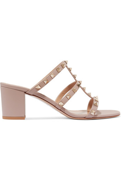 Valentino sandals leather sandals leather blush shoes