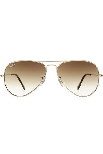 metal classic sunglasses aviator sunglasses gold