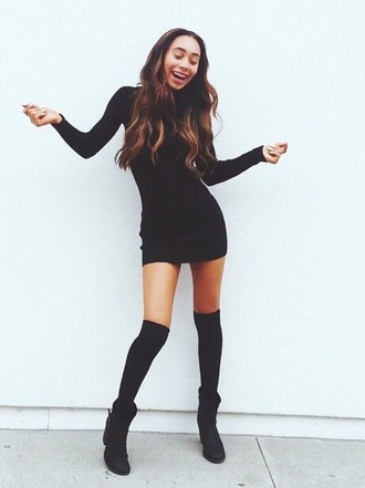 dress black dress mylifeaseva black long sleeves long sleeve dress bodycon bodycon dress little black dress turtleneck high neck mini mini dress party dress sexy party dresses sexy sexy dress party outfits spring dress spring outfits fall dress fall outfits winter dress cute cute dress girly girlyd ress girly dress date outfit birthday dress clubwear club dress shoes