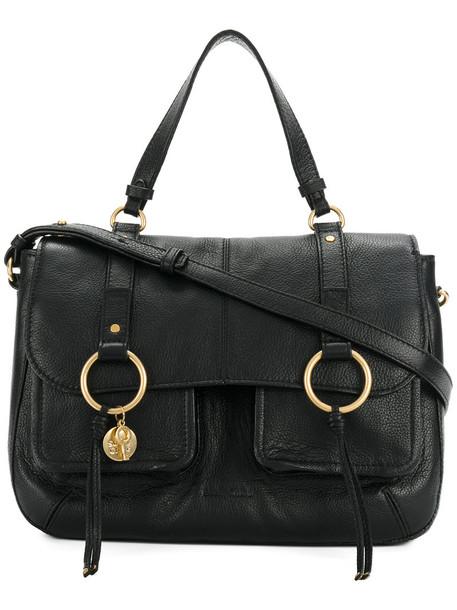 See by Chloe satchel women bag satchel bag leather cotton black