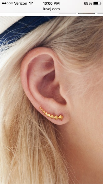jewels curved stud earrings