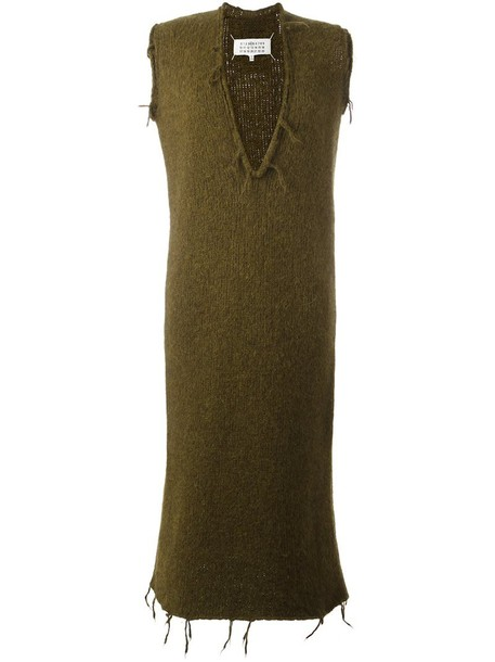 MAISON MARGIELA dress knit women wool green