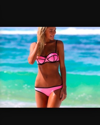swimwear triangl pink triangle top