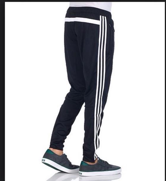 pants black adidas trio joggers