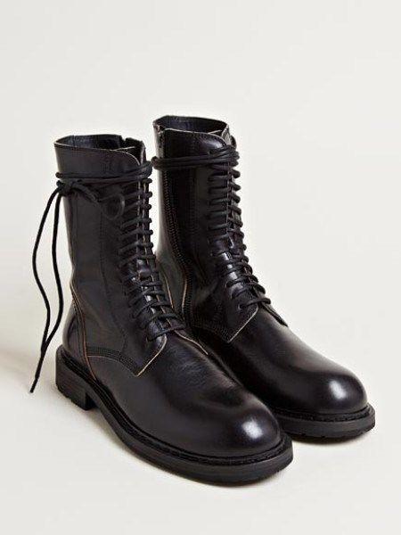 Ann Demeulemeester black military boots sz 38 EU , NWOT, AW13