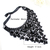 Black Gemstone Net Collar Neckalce - Sheinside.com