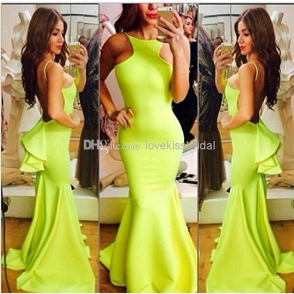 Cheap 2014 Prom Dress - Discount Sexy Backless Mermaid Prom Dresses Simple Design Scoop Online with $114.77/Piece | DHgate
