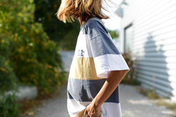 stripes blogger t-shirt the petticoat