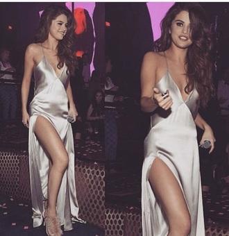 dress selena gomz dress silver selena gomez slip dress silver dress