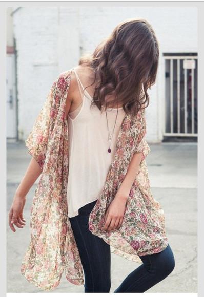 top blouse kimono floral cardigan floral kimono