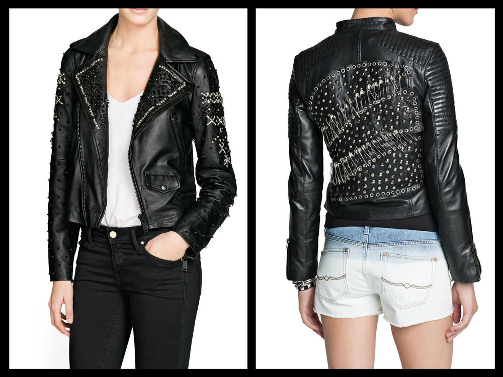 MANGO Leather Biker Jacket 5 Models All sizes available Pick your favourite!