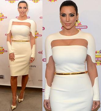 mesh dress cut-out dress kim k kim dress white kim dress kim kardashian kim kardashian dress white kim kardashian mesh cutout dress mesh cutouts