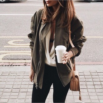 jacket fall outfits fall colors green jacket green fashion coffee