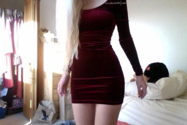 dress velvet burgundy tight velvet dress burgundy