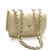 Wholesale Elegant Women's Shoulder Bag With Solid Color Checked and Chains Design (BLACK), Shoulder Bags - Rosewholesale.com