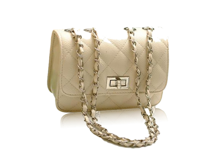 Wholesale Elegant Women's Shoulder Bag With Solid Color Checked and Chains Design (BLACK), Shoulder Bags - Rosewholesale.com