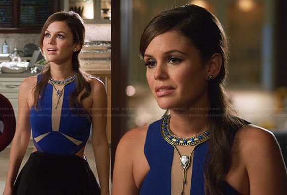 rachel bilson hart of dixie blue top