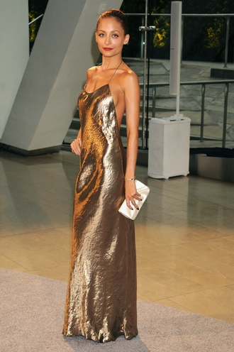 dress metallic maxi maxi dress bronzemaxidress bronze bronzedress nicole richie nicole shoestring strapless longdress longbronzedress metallicmaxidress metallic dress