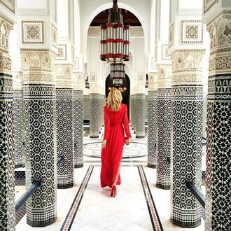 dress tumblr maxi dress long sleeve dress long sleeves red dress long dress pumps high heel pumps red pumps all red wishlist