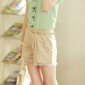 Office Lady High Waist Lace Shorts Hot Pants Trousers   for big sale!