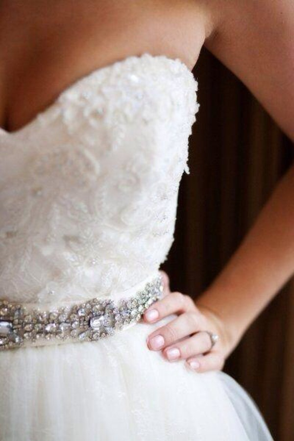 dress sweetheart dress sweetheart neckline jeweled belt gorgeous dress strapless