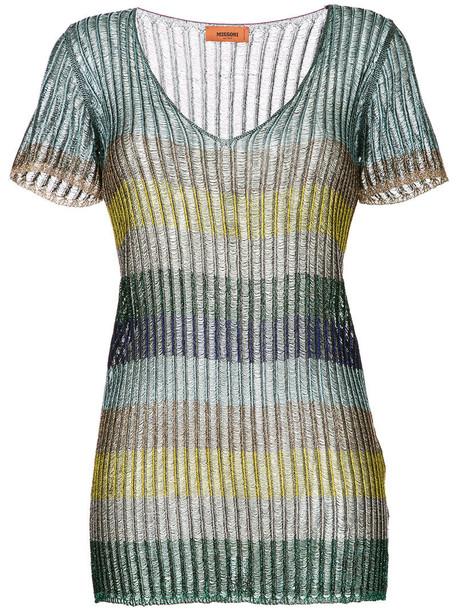 Missoni blouse metallic women grey top