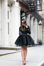 wendy's,lookbook,blogger,shoes,bag,sunglasses,jewels,tulle skirt,red heels,clutch,high heel pumps,bachelorette party outfits