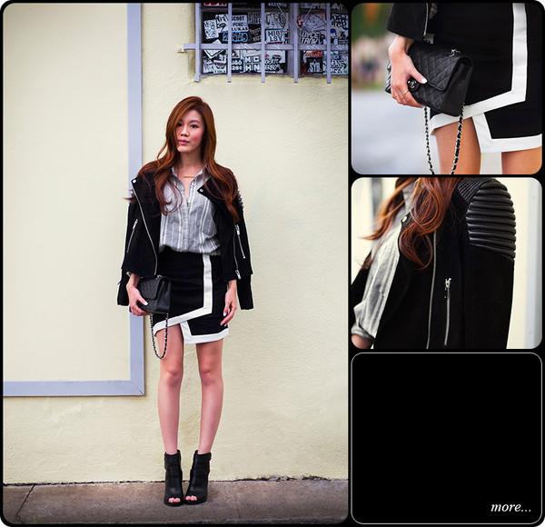 tsangtastic jacket shirt skirt jewels shoes bag