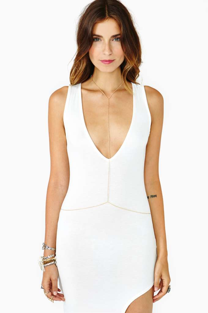Glimmer Body Chain in  What's New Back In Stock at Nasty Gal