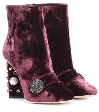 velvet ankle boots embellished boots ankle boots velvet purple shoes