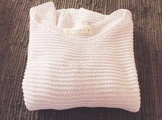 sweater white white knit white knitted white knit sweater knitted sweater oversized sweater fall sweater winter sweater zara knitwear