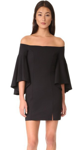 Susana Monaco Cara Off Shoulder Dress - Black