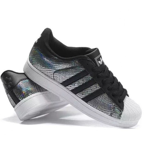 ae949470b51f shoes metallic silver sneakers fashion summer sporty cool adidas boogzel  style adidas shoes adidas superstars