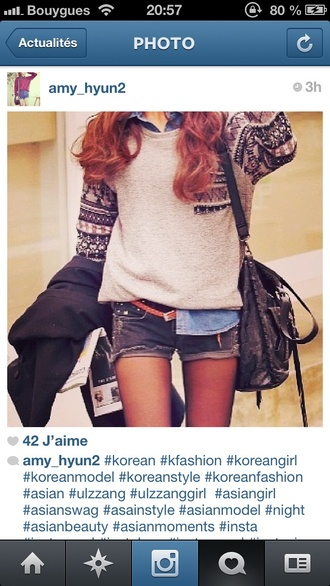 sweater pullover swear korean fashion style like good clothes korean style shorts bag women asian girl