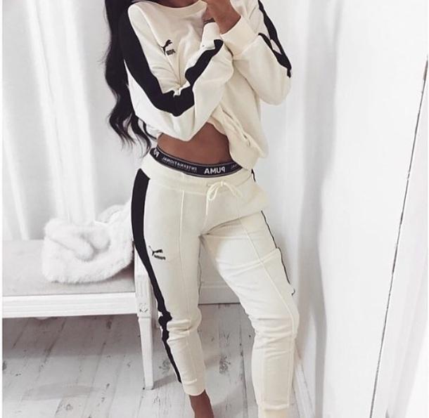 black puma tracksuit womens Shop