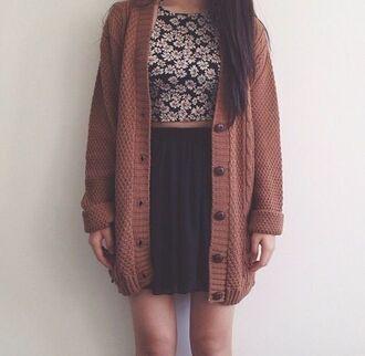 cardigan wool cardigan brown cardigan laine marron