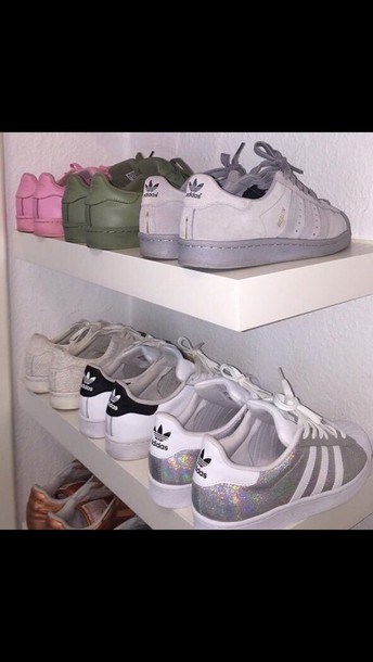 shoes adidas black white green pink grey sparkle shiny adidas shoes olive  green adidas superstars iridescent 6c3f33ba1488