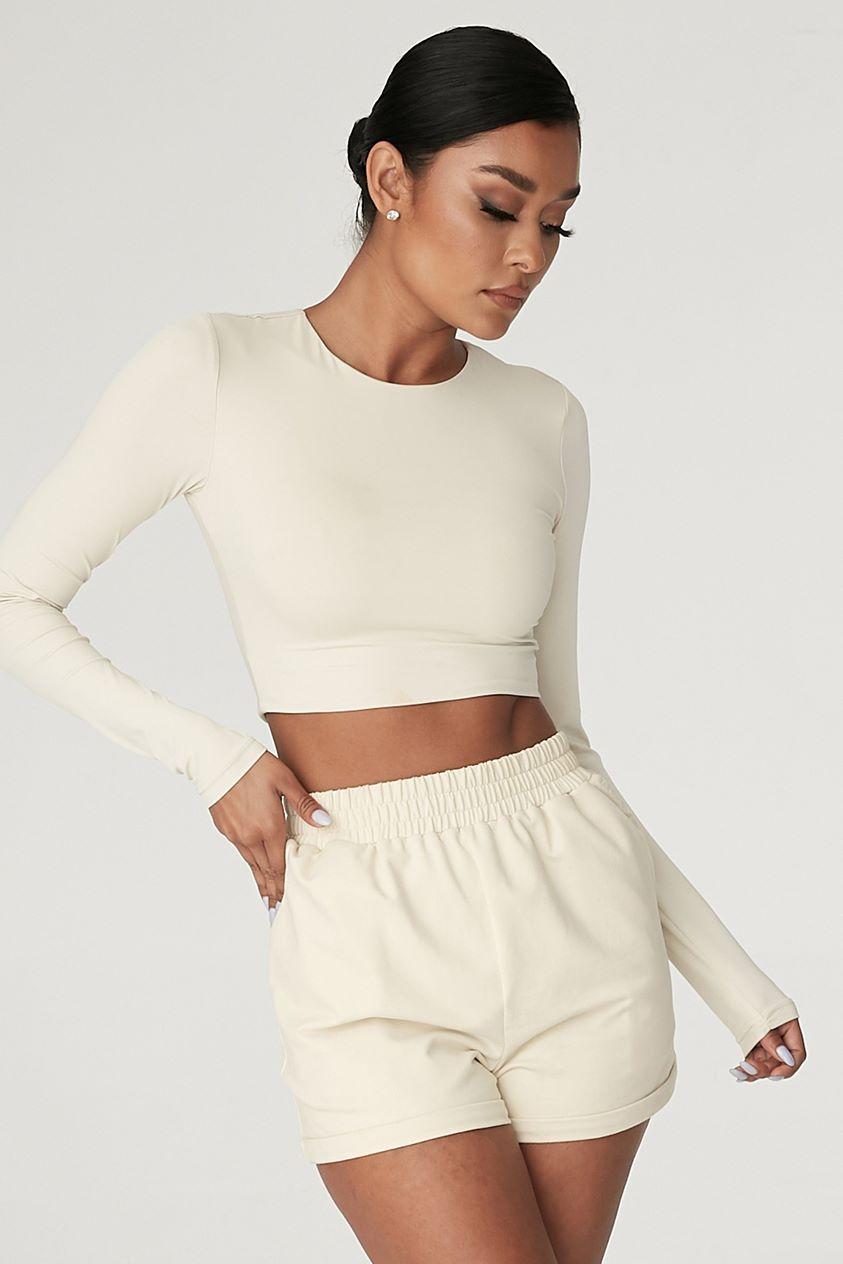 Tahlia Loopback Shorts - Sand